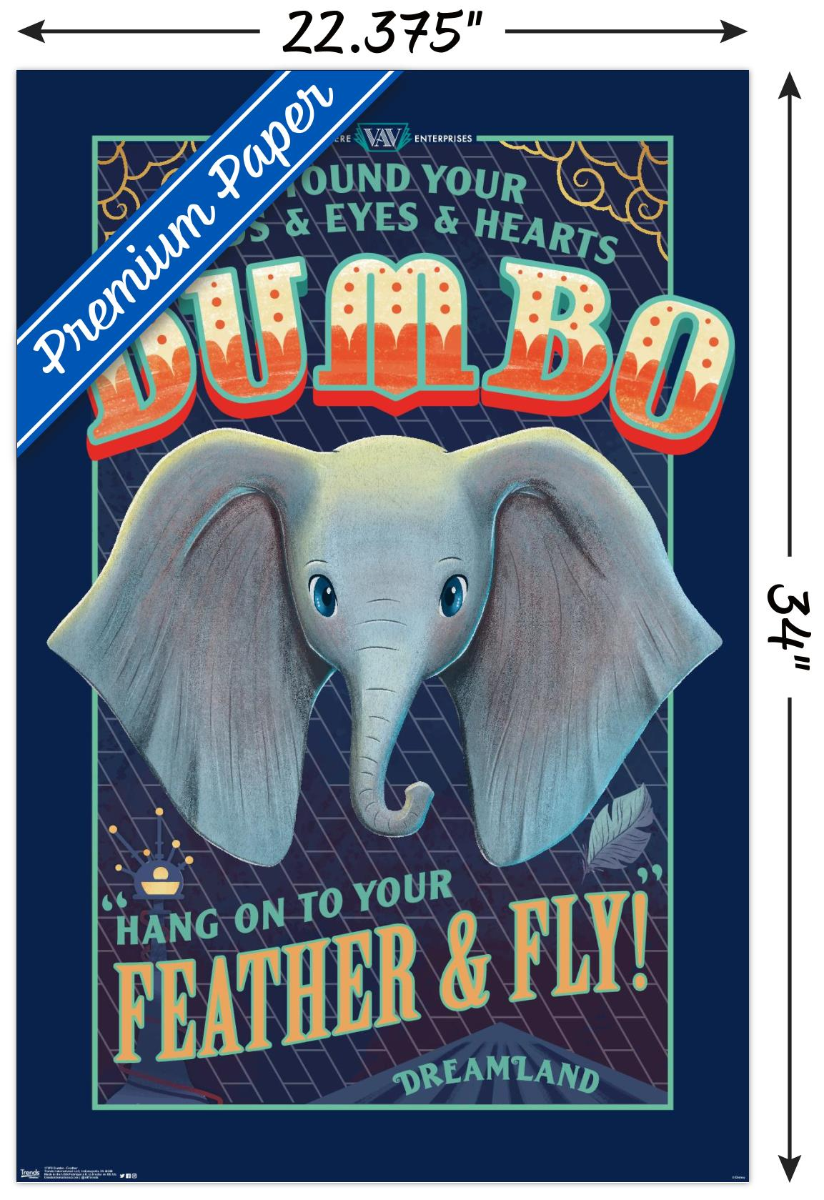 FEATHER /& FLY DUMBO MOVIE POSTER DISNEY 17075 22x34